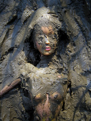 Mud Bath Barbie..