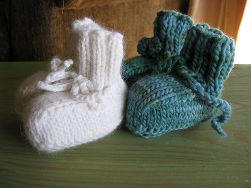 Baby Booties from Natural Baby Knits