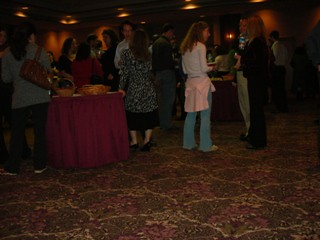 Young professionals schmooze over snacks and martinis / photo taken by Rachel Mauro