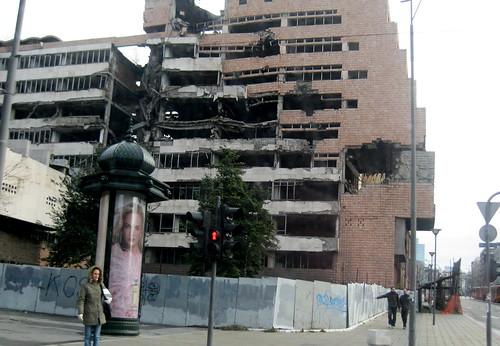 The Former Yugoslav Ministry of Defense (B. Woodruff Photo December 2008)