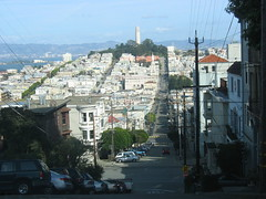 A steep street in San Francisco