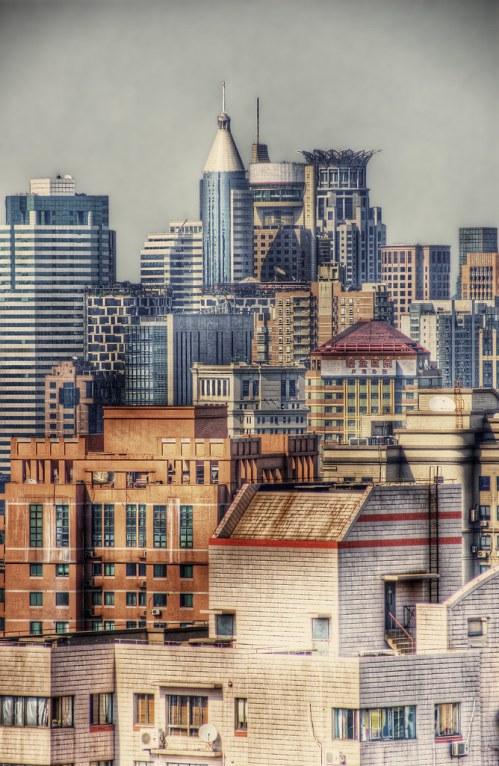 Shanghai: 30th floor view.