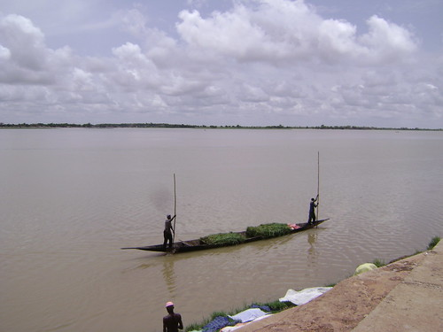 View of the Niger River from my Segou hotel.