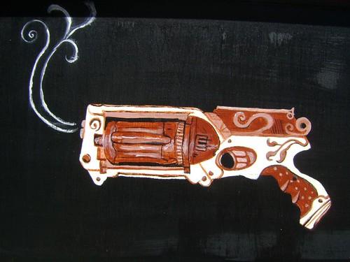 Steampunk sideboard detail