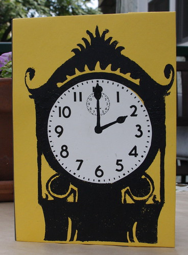 Clock Notebook Front