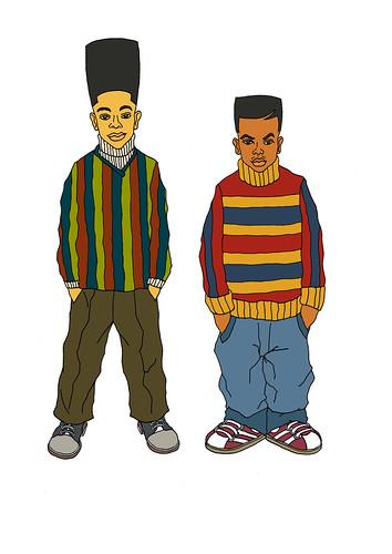Kid Bert & Playa Ernie by kiboko HachiYon