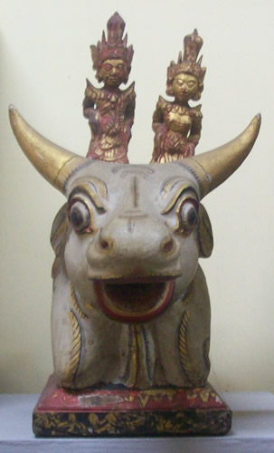 Siwa and Durga Mounted On A Bull