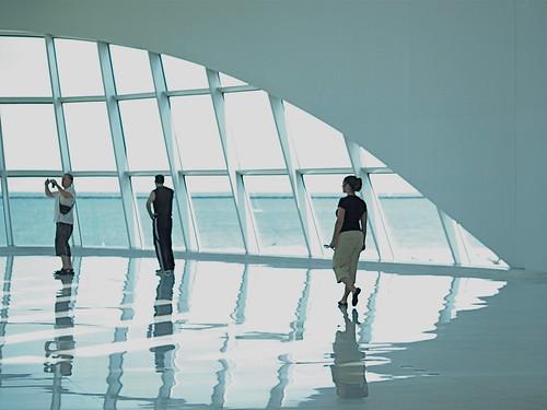 Milwaukee Art Museum on the shores of Lake Michigan