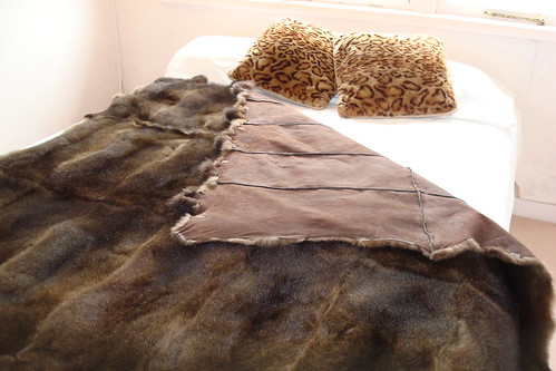 Raw Edge Possum Fur Throw