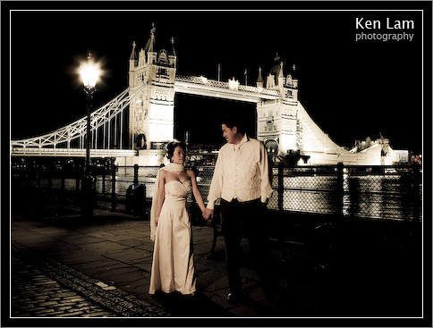 Wedding photograph taken in the Tower of London