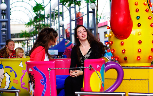 Teacup ride in Wollongong Mall as part of Tutti in Piazza, Italian Day by you.