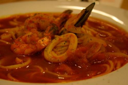 Japanese Seafood Soup Spaghetti