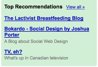 Recommendation Fail