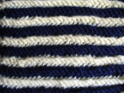 Double Garter Swatch Stripe