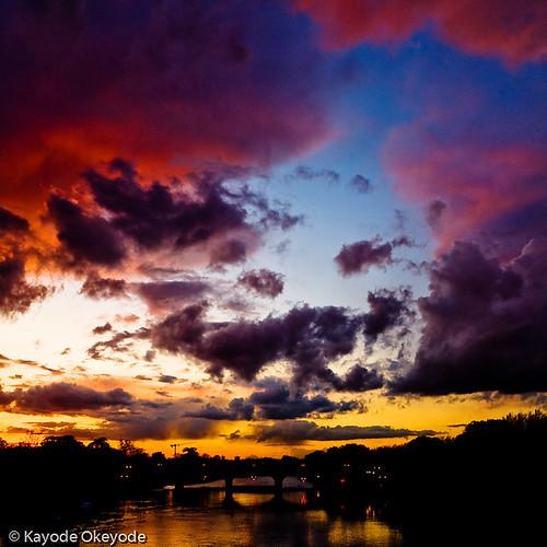 Sunset over Richmond Lock