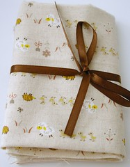 Cute sheep, ducks and hedgehogs fabric
