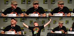 Simon Pegg at the Comic-con Spaced Panel