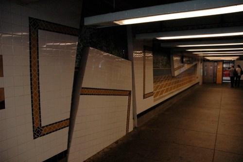 "Vito Acconci's ""Wall-Slide"" 2002 in the 161st Street Yankee Stadium Subway Station"