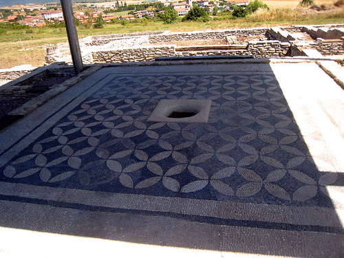 Reconstructed mosaic over water tank