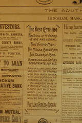 Century old Hingham newspaper clipping at Stra...