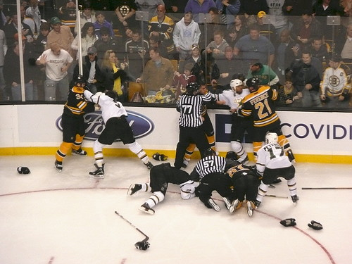 Hockey brawl!