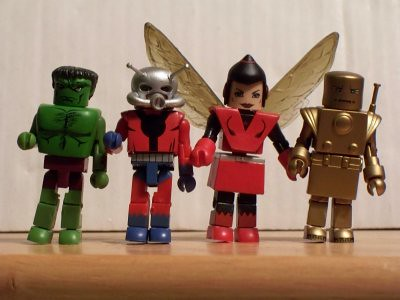 The Hulk, Ant-Man, the Wasp and Golden Iron Man