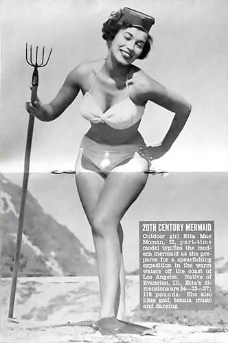 20th Century Mermaid - Jet Mag, Dec 10, 1953 by vieilles_annonces.