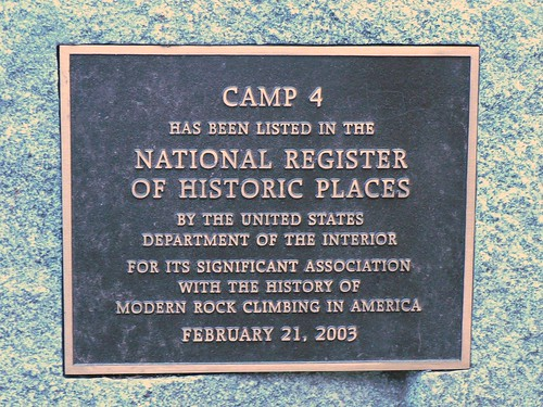 Camp 4 Plaque