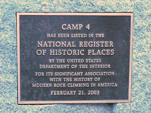 Camp 4 Plaque