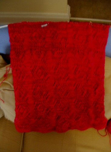 I really, really need to stop knitting red things because photographing them is driving me up the wall