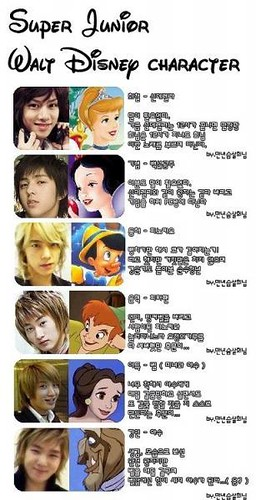 super junior disney characters by the 2nd account of cacacaca94.