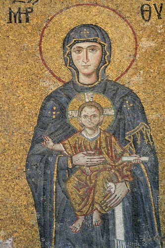 Madonna & Child - The fresco had been scrubbed when the church became a mosque. Recently restored.