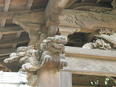 Wooden carvings at Engaku-ji, Kamakura
