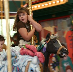 girl on carousel 1