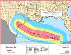 Hurricane Ike Storm Path 9.10.2008 11 a.m.