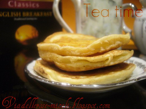 English Breakfast tea: Pancakes
