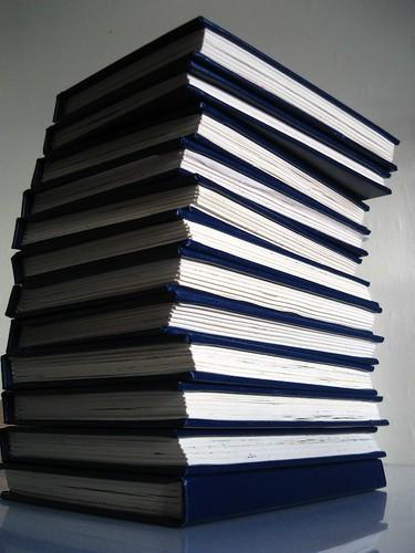 20081201 stack of sketchbooks