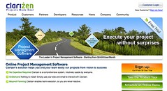 Clarizen home page