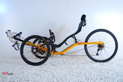 Q-Cycles Troms Liegedreirad orange