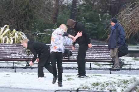 Snow in Stephens Green