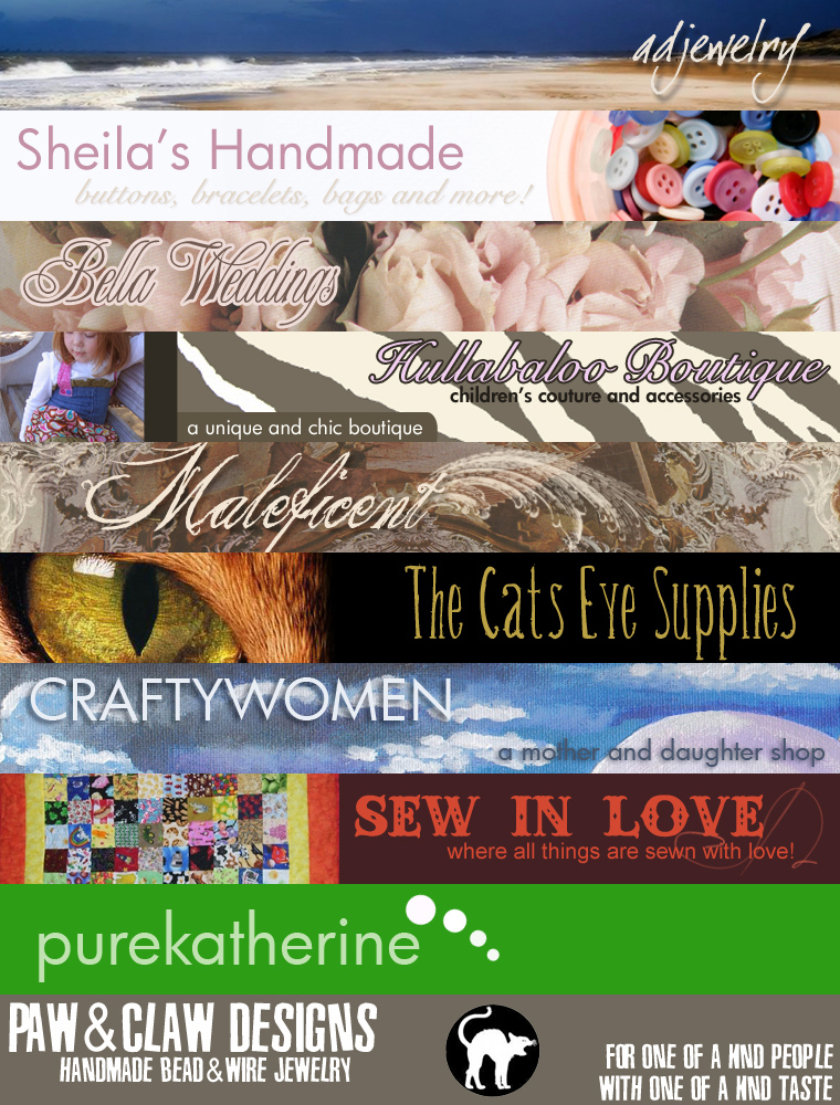 Various Etsy Shop Banners