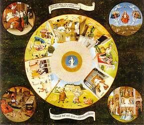 Hieronymus Bosch, El Bosco. Los 7 Pecados Capitales.
