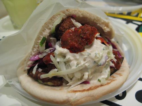 l'as du falafel, falafel sandwich