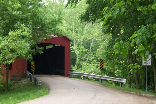 Covered bridge on old US 36