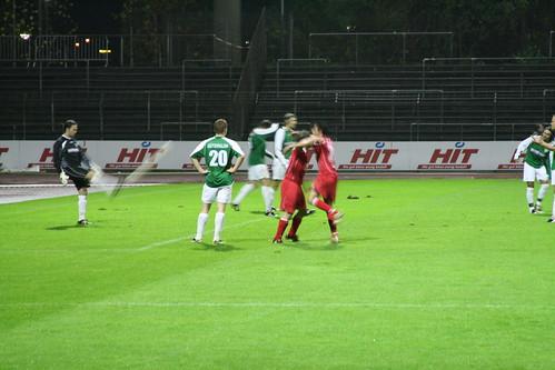 Jubel nach Daniel Blankenheims 1-0
