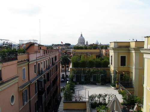 View from West of the Spanish Steps