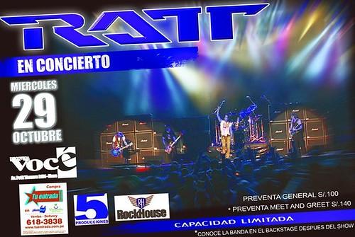 Afiche Ratt en Lima