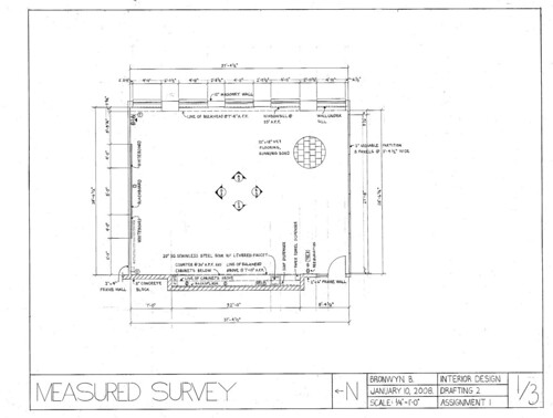 Measured Survey: Floor plan