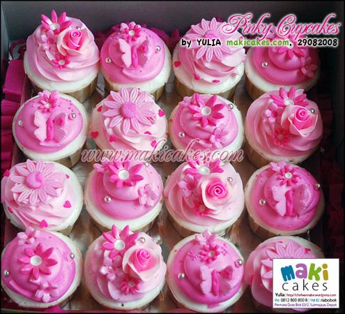 Pinky Cupcakes_- Maki Cakes