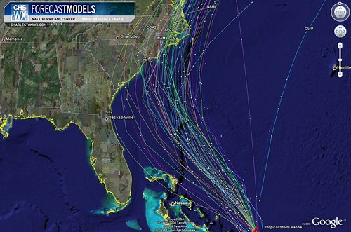 Tropical Storm Hanna 11PM Advisory 09/03:  Forecast Models